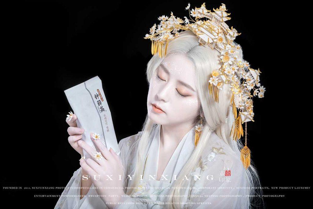 钟薛高雪糕广告拍摄