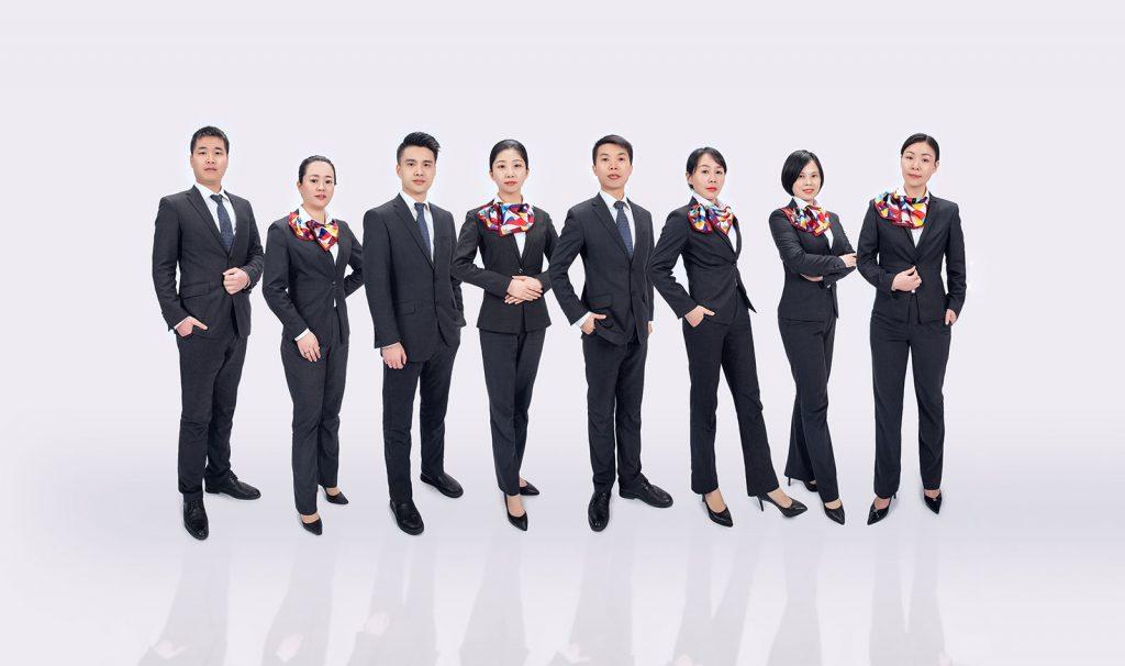 企业销售部团体职业照拍摄